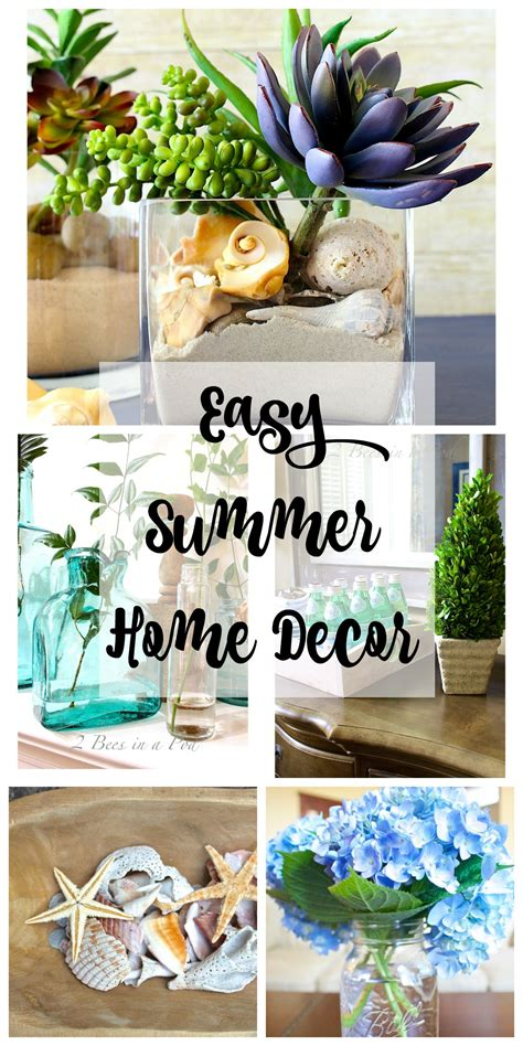 easy summer home decor  bees   pod