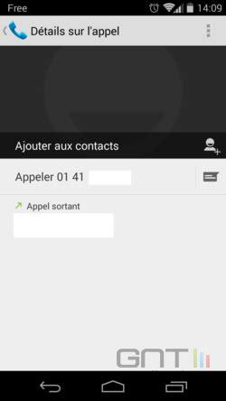 Enregistrer un numéro entrant dans son répertoire Android