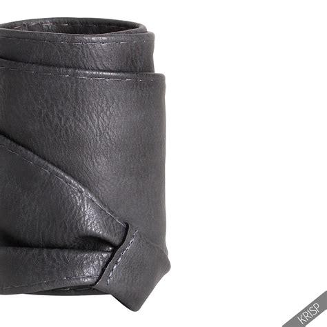 soft faux leather wide self tie wrap around obi