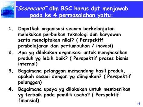 Menciptakan Balanced Scorecard Untuk Organisasi Jasa Keuangan Ori balanced scorecard amin subiyakto