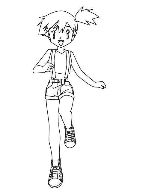 Pokemon Coloring Pages Misty | misty pokemon coloring pages az coloring pages