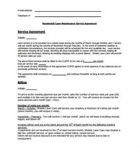 lawn care contract template lawn service contract template 7 documents in pdf