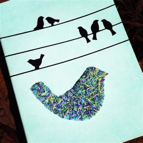 String On Canvas - three ideas for stitching birds mr x stitch