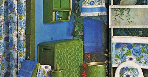 mail order home decor coordinated 70s bathroom accessories the mid century