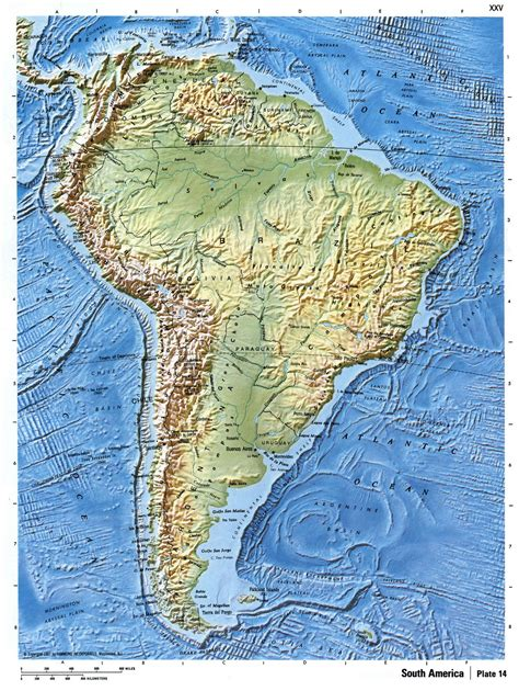america relief map detailed relief map of south america south america