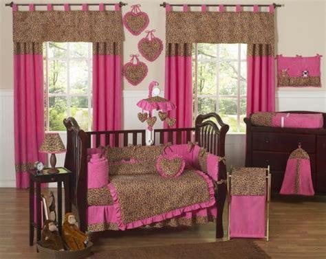 Cheetah Print Crib Bedding Set by Cheetah Animal Print Pink And Brown Baby Bedding 9pc