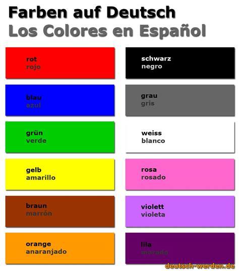 und colors farben auf und spanisch los colores en alem 225 n y