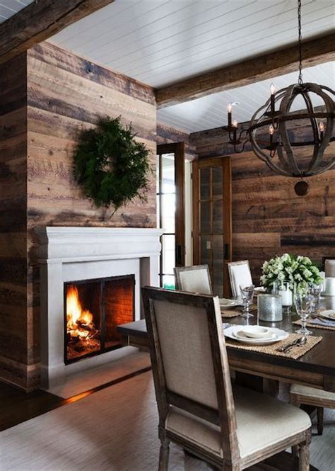 Wood Accent Wall In Dining Room 12 Rustic Dining Room Ideas Decoholic