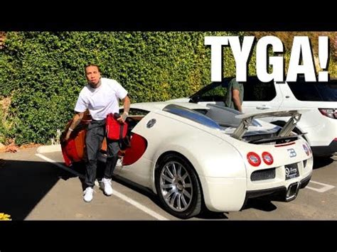 tyga driving his bugatti veyron in los angeles! youtube