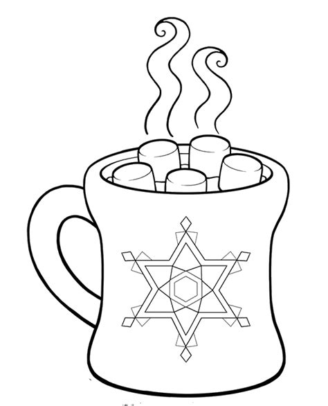 Hot Cocoa Coloring For Kids  Day Pages sketch template