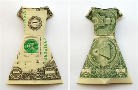 How To Fold Money Origami - money origami dress folding with photos