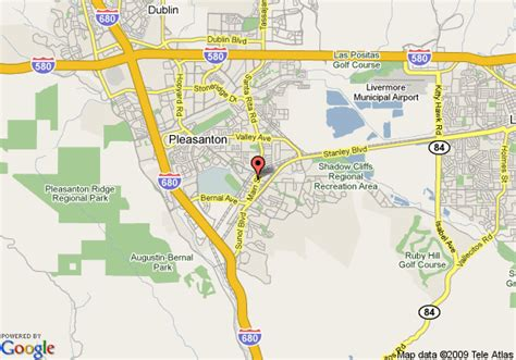 pleasanton california map map of the hotel pleasanton