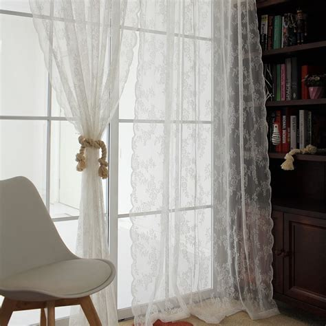 lace bedroom curtains high class french style finished modern flower hollow out
