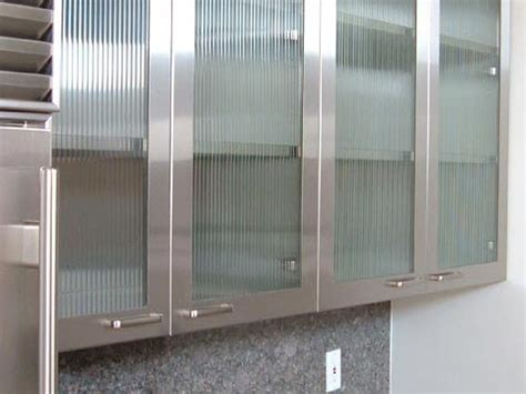Stainless Steel Kitchen Cabinet Doors Designer Kitchens Glass Front Cabinets Simplified Bee