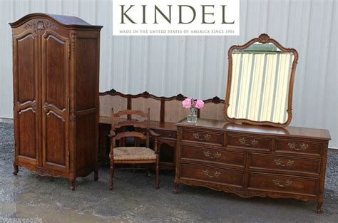 kindel 7pc bedroom set cherry armoire king