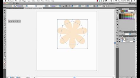draw hexagon illustrator draw a flower in illustrator using polygon tool youtube
