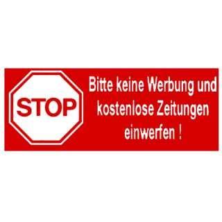 Aufkleber Stop Bitte Keine Werbung Und Kostenlose Zeitungen Einwerfen by Aufkleber Stop Bitte Keine Werbung Und Kostenlose