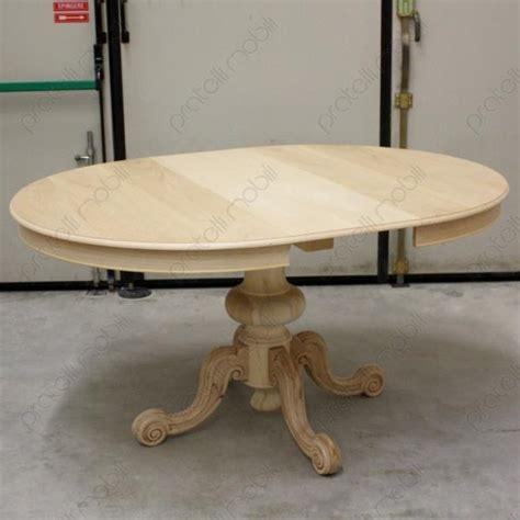 verniciare tavolo legno tavoli grezzi tavolo rotondo grezzo allungabile gamba