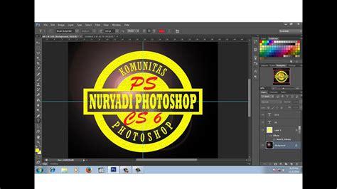 membuat logo dengan photoshop cs6 cara membuat logo komunitas dengan photoshop youtube