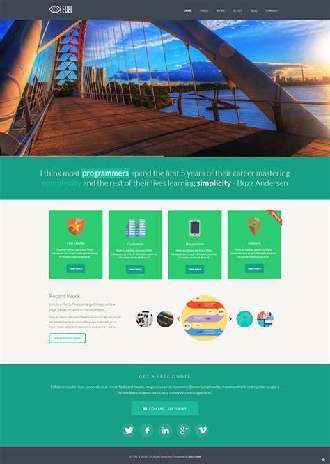 tutorial bootstrap flat design ilevel responsive flat design bootstrap template