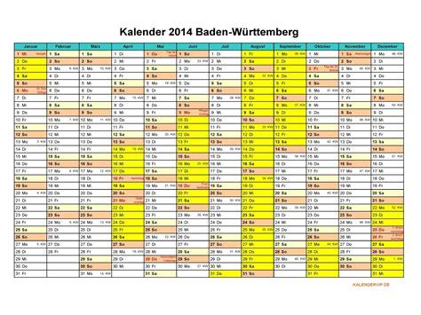 Kalender For 2014 Kalender 2014 Baden W 252 Rttemberg Kalendervip