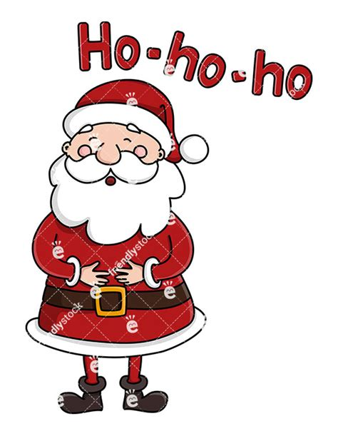 cute santa claus laughing ho ho ho vector clipart