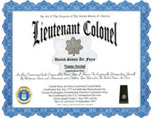lieutenant colonel air force rank display recognition