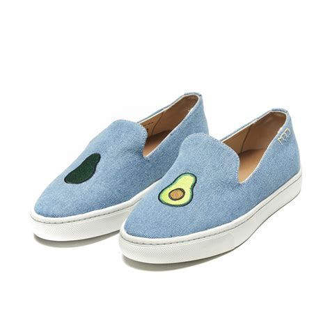 soludos sneakers soludos jason polan avocado embroidered denim slip on