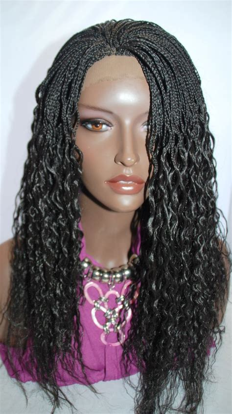 big hair mirco hair braided lace front wig micro braids color human hair