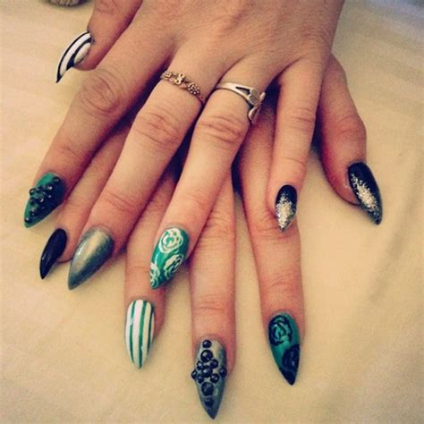 pattern acrylic nails 20 stylish diy nail designs ideas 2018 uk london beep