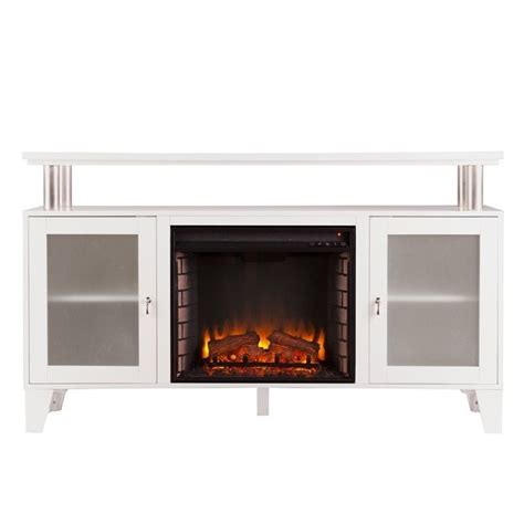 Southern Enterprises Cabrini Fireplace Tv Stand In White White Fireplace Tv Stand