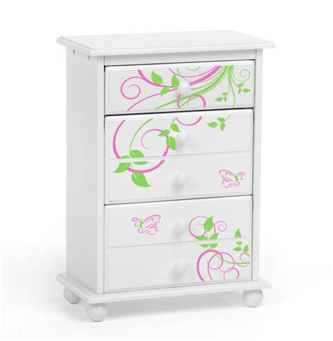 doll furniture for 18 inch dolls cheap doll chest of drawers wtih butterflies discount doll house