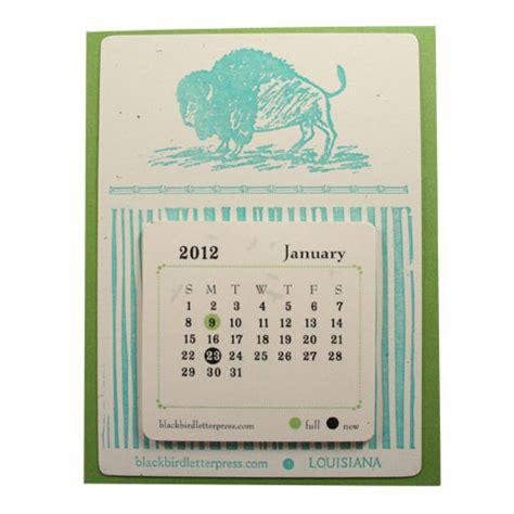Letterpress Desk Calendar by Bison Letterpress Desk Calendar Remodelista
