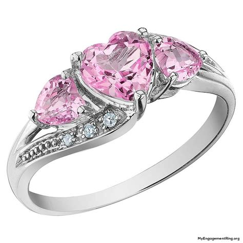 pink ring engagement wedding rings