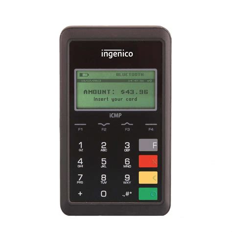 Ingenico iCMP Mobile EMV Card Reader for Converge   Leap Payments