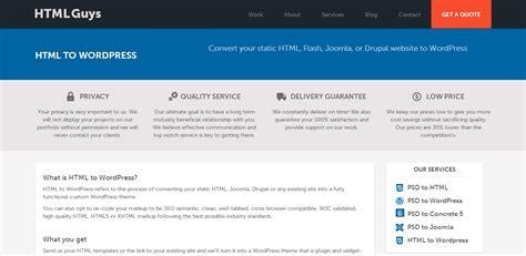 theme drupal cv convert html to wordpress theme hire top conversion
