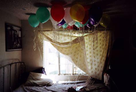 Bedroom Decoration Ideas For Birthday Balloons Bedroom Birthday Image 267426 On Favim