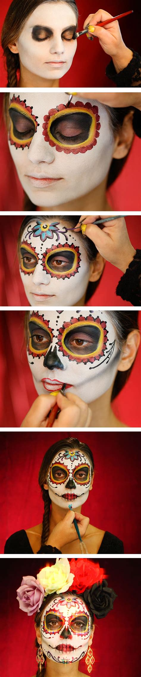 tutorial makeup catrina 25 super cool step by step makeup tutorials for halloween