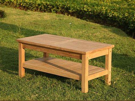 wordsworth rectangular premium teak garden coffee table