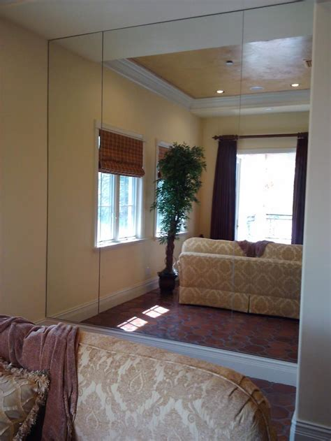Bedroom Wall by Looking Glass Company Mirror Installation