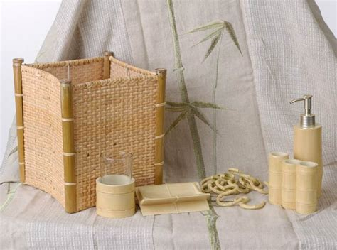 Tiki Bathroom Accessories Tiki Bamboo Bathroom Accessory Set With Shower Curtain 80030025 Overstock Shopping The