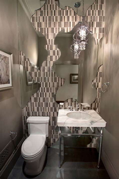 powder room wall decor ideas spectacular different shapes of unique wall mirrors