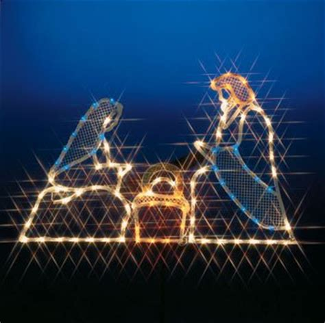 3 pc holographic lighted christmas outdoor nativity scene set nativity lighted yard displays wikii