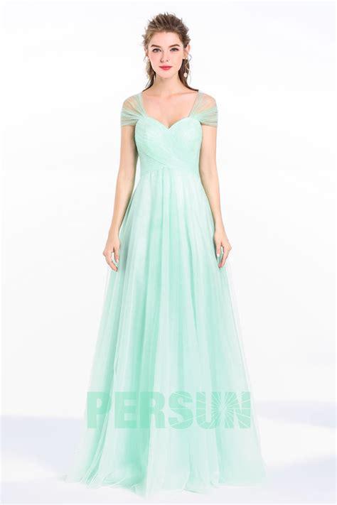 Robe Pour Ceremonie Pale - robe verte mente fra 238 che longue pour c 233 r 233 monie mariage
