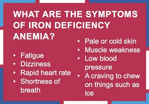 Iron Detox Symptoms what are the symptoms of iron deficiency anemia