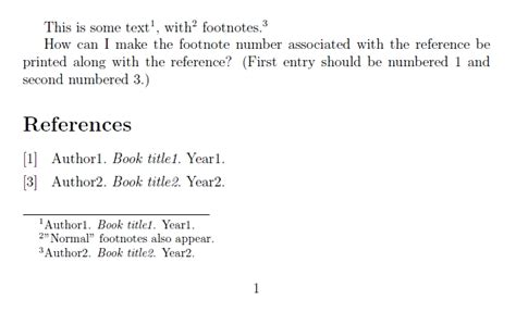 format of footnote reference biblatex footnote citations and numbers in bibliography