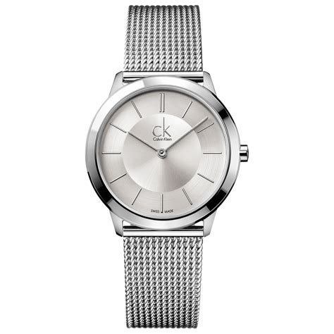 Ck Designer Luster Nu Silver calvin klein mens swiss minimal stainless steel mesh bracelet 35mm in silver for no color