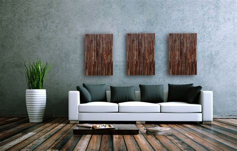 reclaimed wood divider hand crafted reclaimed wood wall art 3 peice set 16 by