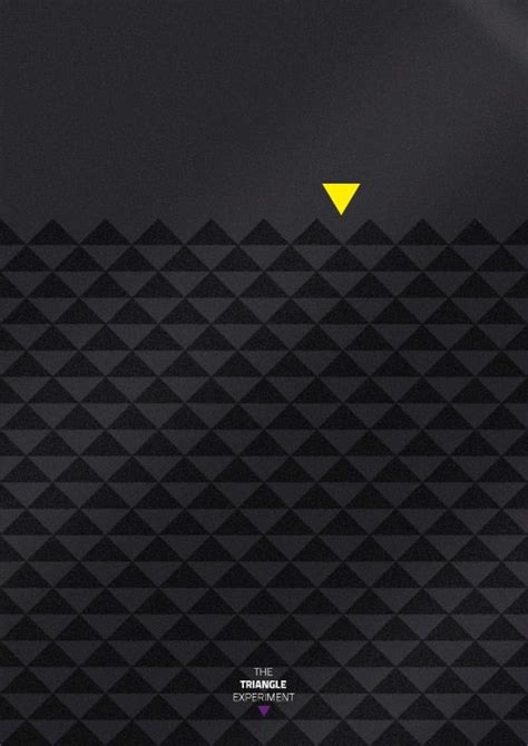 triangle eye pattern the triangle experimentidea art direction graphic
