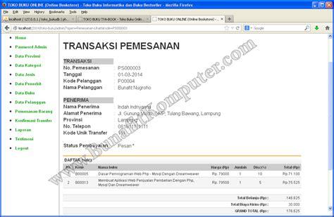 template toko online dreamweaver contoh website toko online bunafit komputer